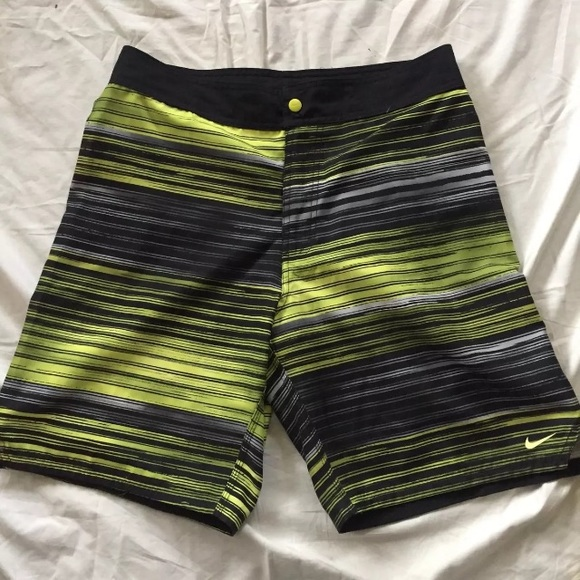 5f162c7ea5 Nike Swim   Board Shorts Mens 30 Black Yellow Strap   Poshmark